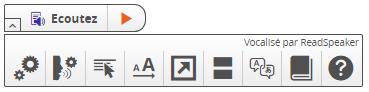 Barre d'outils Readspeaker