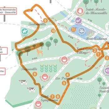 Circuit touristique auto de Longecorbie autour de Pont-Audemer
