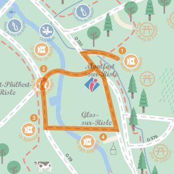 circuit touristique auto Héritage médiéval dans la vallée de la Risle